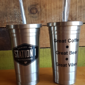 Station One Coffeehouse - cold brew traveller can & straw